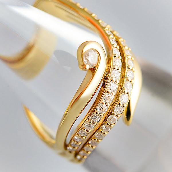 K18 ダイヤモンド デザインリング