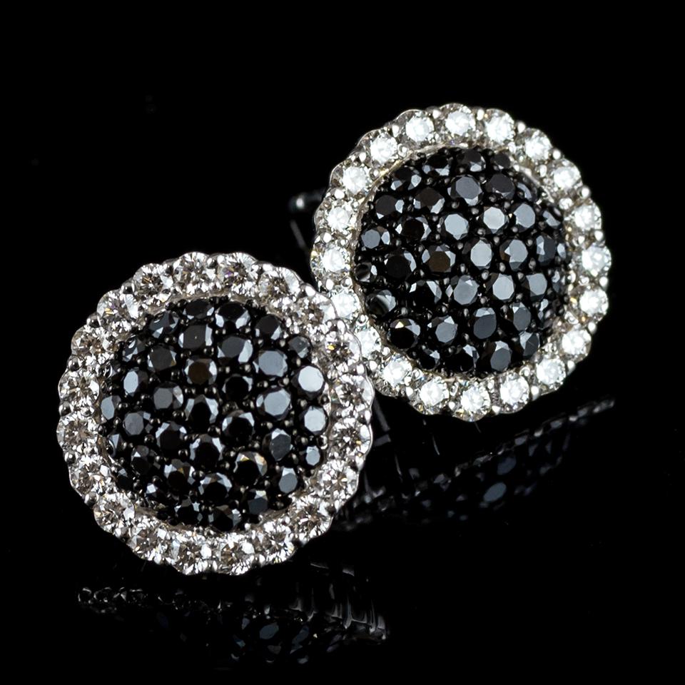 ブラックダイヤモンドイヤリング