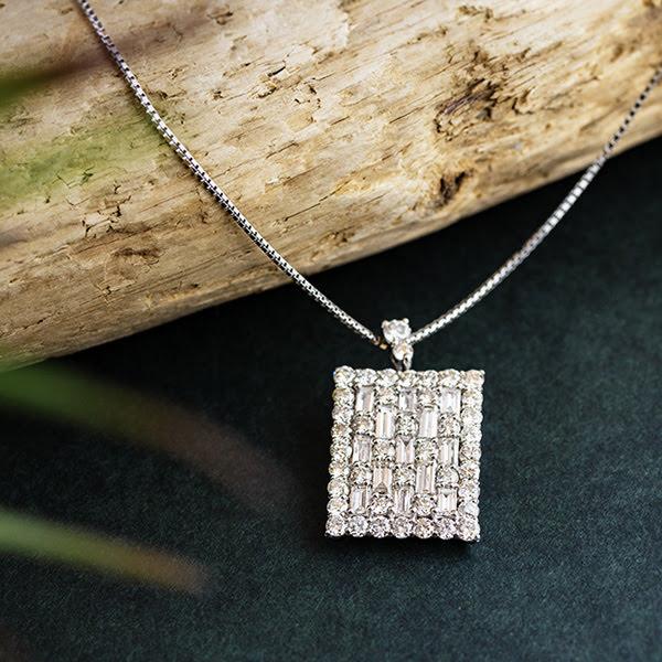 PT950/PT850 ダイヤモンド デザインネックレス