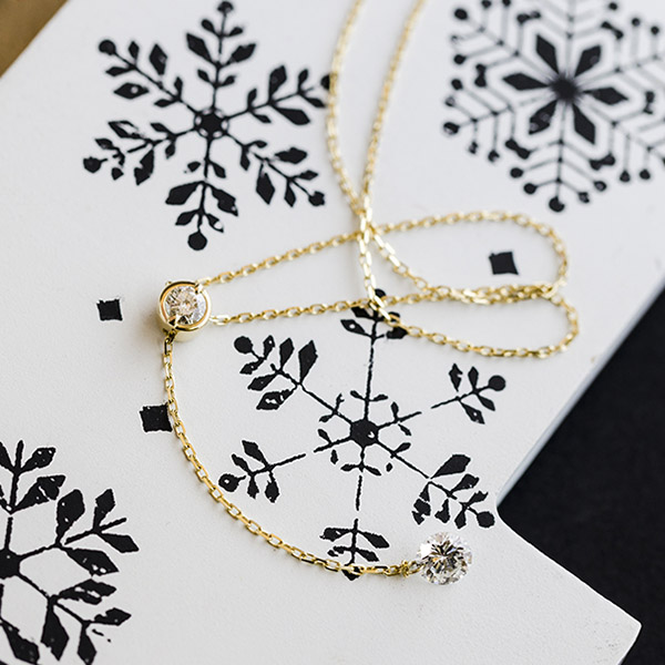 K18 ダイヤ デザイン ネックレス