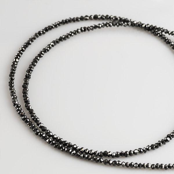 K18WG ブラックダイヤモンド ペンダントネックレス
