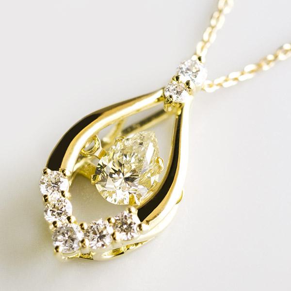 K18 ダイヤモンド デザインネックレス ダンシング