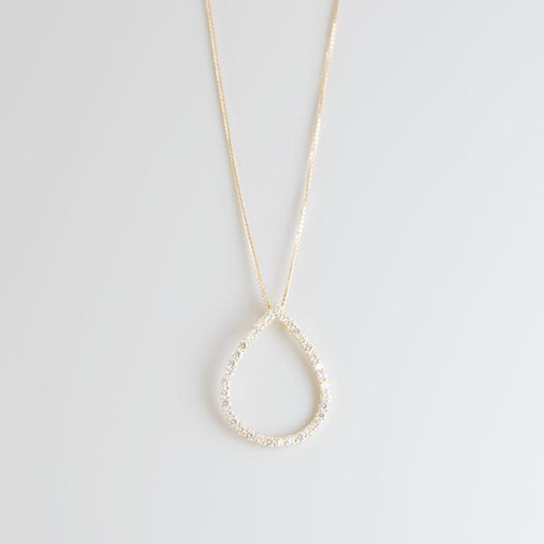 ダイヤモンドデザインネックレス オープン