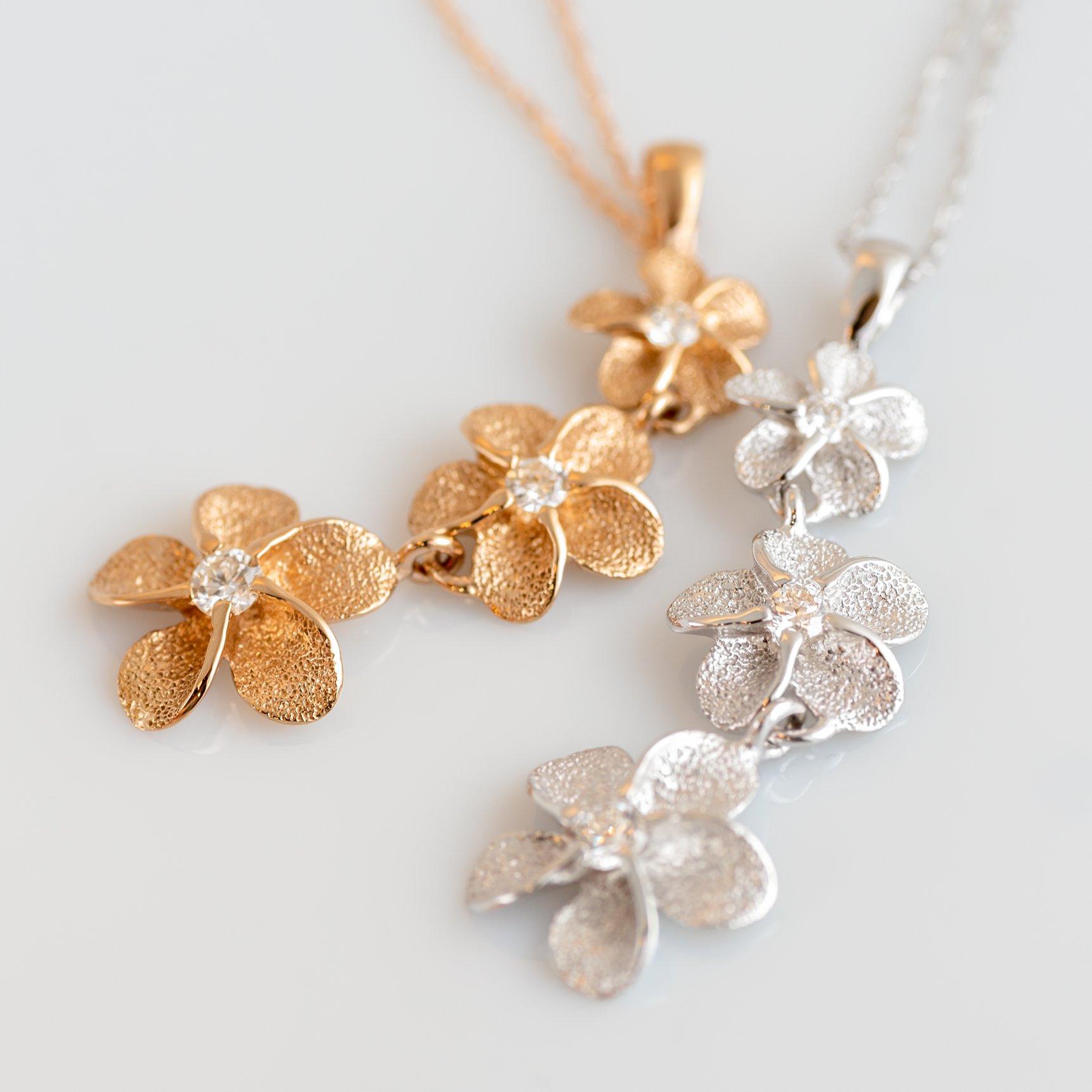 南国の花「プルメリア」が可愛らしいデザインネックレス