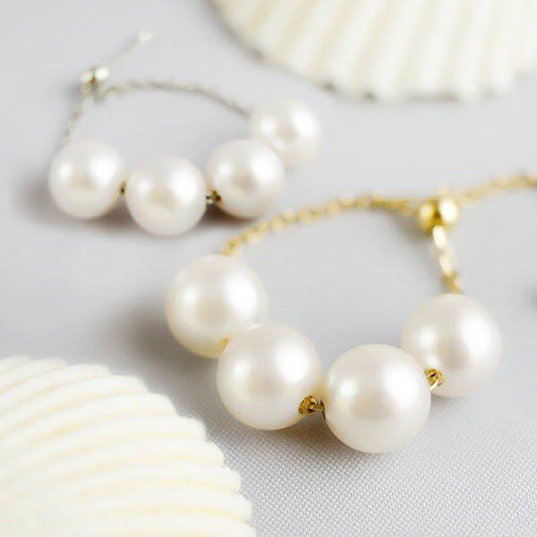 天然本真珠使用の上品なパールリング